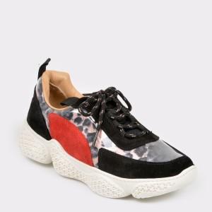 Pantofi sport FLAVIA PASSINI negri, 18461, din material textil