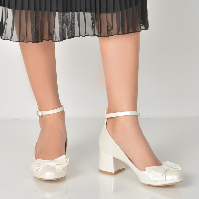 Pantofi Epica Albi Pentru Mireasa 4576013 Din Piele Ecologica