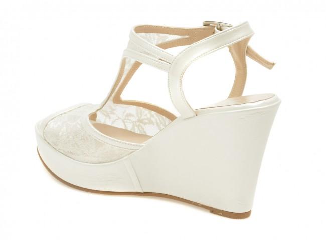 Sandale Pentru Mireasa Epica Albe 5039 Din Material Textil Tezyoro